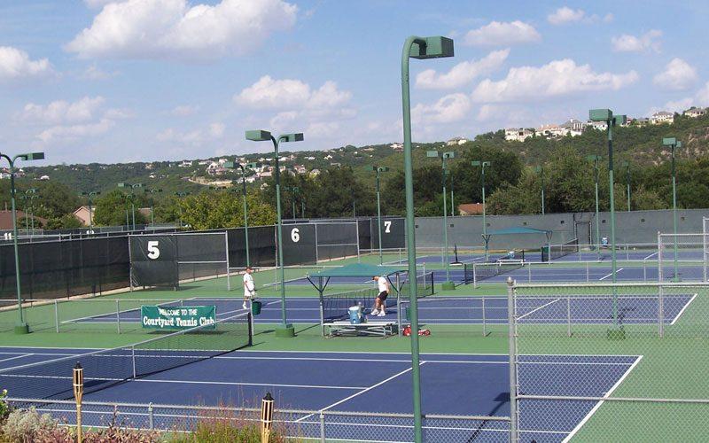 courtyard tennis court